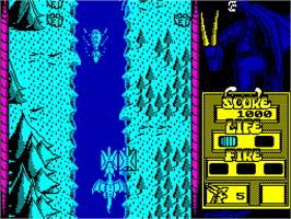 In game image of Dragon Spirit: The New Legend on the Sinclair ZX Spectrum.