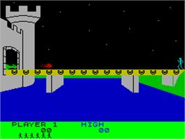In game image of Dragonfire on the Sinclair ZX Spectrum.