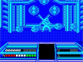 In game image of Dream Warrior on the Sinclair ZX Spectrum.