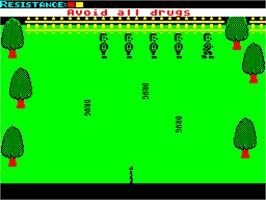 In game image of Drug Watch on the Sinclair ZX Spectrum.