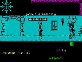 In game image of Dun Darach on the Sinclair ZX Spectrum.