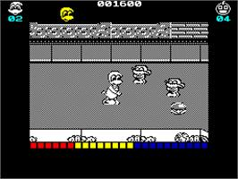 In game image of Dynamite Düx on the Sinclair ZX Spectrum.