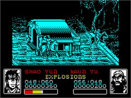 In game image of Dynasty Wars on the Sinclair ZX Spectrum.