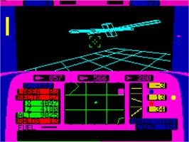 In game image of Echelon on the Sinclair ZX Spectrum.