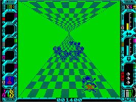 In game image of Eliminator on the Sinclair ZX Spectrum.