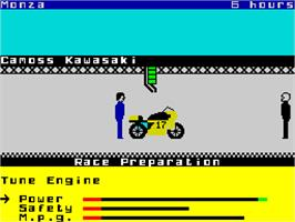 In game image of Endurance on the Sinclair ZX Spectrum.