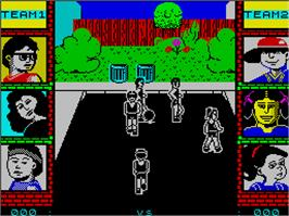In game image of Epyx Action on the Sinclair ZX Spectrum.