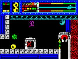 In game image of Equinox on the Sinclair ZX Spectrum.