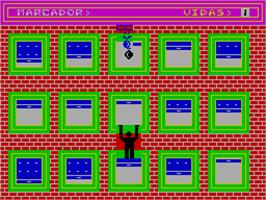 In game image of Escalador Loco on the Sinclair ZX Spectrum.