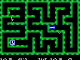 In game image of Escape MCP on the Sinclair ZX Spectrum.