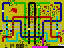 In game image of Eureka! on the Sinclair ZX Spectrum.