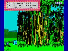 In game image of Explorer on the Sinclair ZX Spectrum.