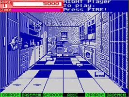 In game image of Exterminator on the Sinclair ZX Spectrum.