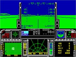 In game image of F-16 Combat Pilot on the Sinclair ZX Spectrum.