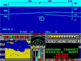In game image of F-19 Stealth Fighter on the Sinclair ZX Spectrum.