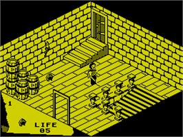 In game image of Fairlight: A Prelude on the Sinclair ZX Spectrum.