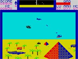 In game image of Falcon Patrol II on the Sinclair ZX Spectrum.