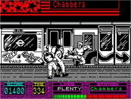 In game image of Fallen Angel on the Sinclair ZX Spectrum.