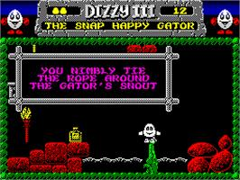 In game image of Fantasy World Dizzy on the Sinclair ZX Spectrum.