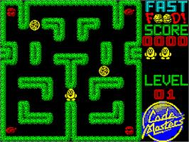 In game image of Fast Food on the Sinclair ZX Spectrum.