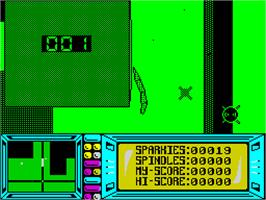 In game image of Fat Worm Blows A Sparky on the Sinclair ZX Spectrum.