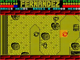 In game image of Fernandez Must Die on the Sinclair ZX Spectrum.