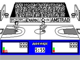 In game image of Fernando Martín Basket Master on the Sinclair ZX Spectrum.