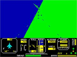 In game image of Fighter Pilot on the Sinclair ZX Spectrum.