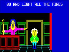 In game image of Flunky on the Sinclair ZX Spectrum.