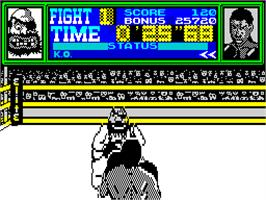 In game image of Frank Bruno's Boxing on the Sinclair ZX Spectrum.