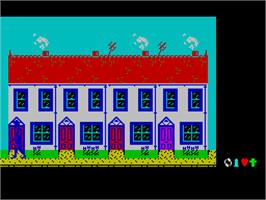 In game image of Frankie Goes to Hollywood on the Sinclair ZX Spectrum.