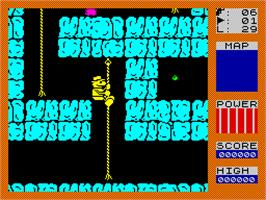 In game image of Fred on the Sinclair ZX Spectrum.