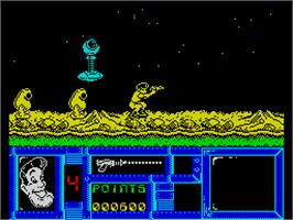 In game image of Freddy Hardest on the Sinclair ZX Spectrum.