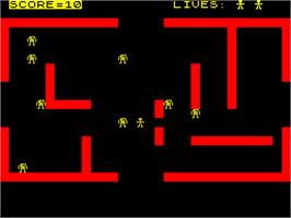 In game image of Frenzy on the Sinclair ZX Spectrum.