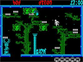 In game image of Frightmare on the Sinclair ZX Spectrum.