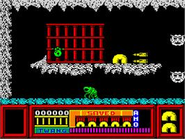 In game image of Frost Byte on the Sinclair ZX Spectrum.
