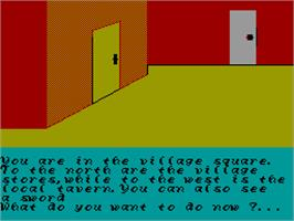 In game image of Fun School 3 for the Under 5s on the Sinclair ZX Spectrum.