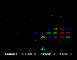 In game image of G.U.T.Z. on the Sinclair ZX Spectrum.