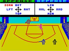 In game image of GBA Championship Basketball: Two-on-Two on the Sinclair ZX Spectrum.
