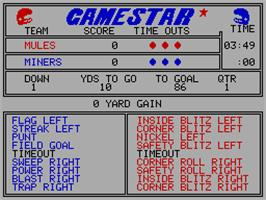 In game image of GFL Championship Football on the Sinclair ZX Spectrum.