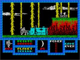 In game image of Game Over on the Sinclair ZX Spectrum.