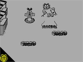 In game image of Garfield: Winter's Tail on the Sinclair ZX Spectrum.