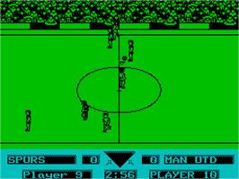 In game image of Gazza's Super Soccer on the Sinclair ZX Spectrum.