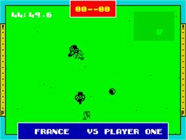 In game image of Gazza II on the Sinclair ZX Spectrum.