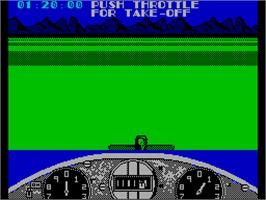 In game image of Gee Bee Air Rally on the Sinclair ZX Spectrum.