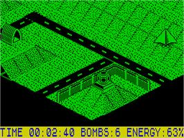 In game image of Glider Rider on the Sinclair ZX Spectrum.