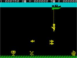 In game image of Glug Glug on the Sinclair ZX Spectrum.