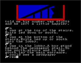 In game image of Gold, Silver, Bronze on the Sinclair ZX Spectrum.