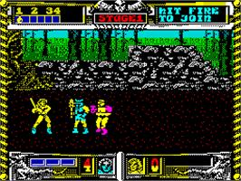 In game image of Golden Axe on the Sinclair ZX Spectrum.