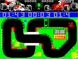 In game image of Grand Prix Simulator 2 on the Sinclair ZX Spectrum.